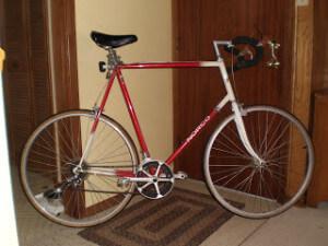 Tall Old Road Bike