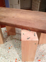 raised cutting board with legs
