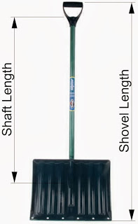 extra long snow shovel for tall people Measurements