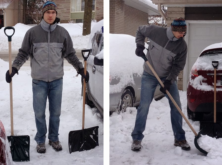 Extra Long Snow Shovel for Tall People
