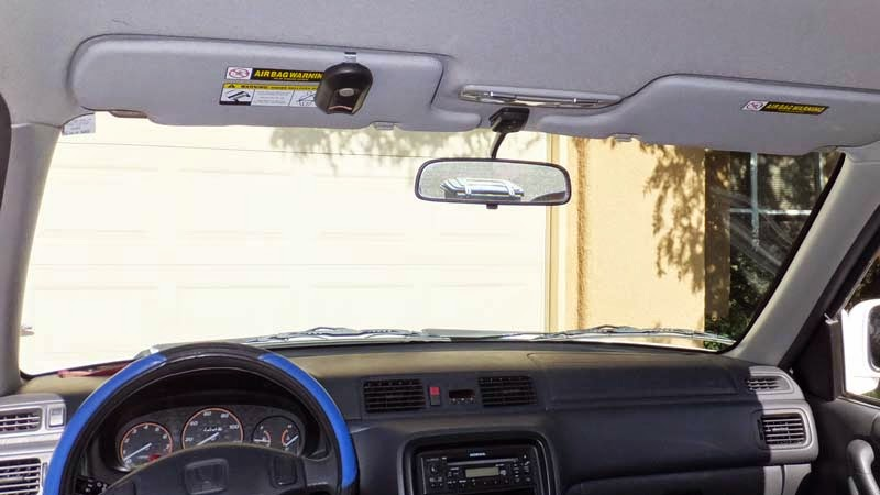 Tall people can't see rearview mirror have to reposition it