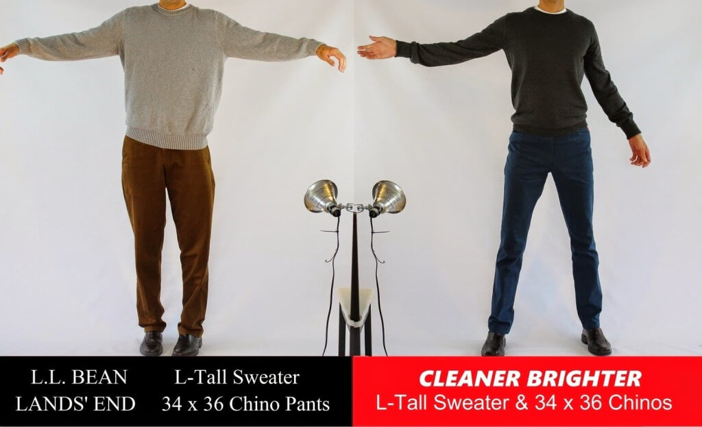 Comparison Between LL Bean Clothes for Then Guys and Cleaner Brighter