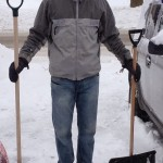 Comparing an average snow shovel to one proportional to human height
