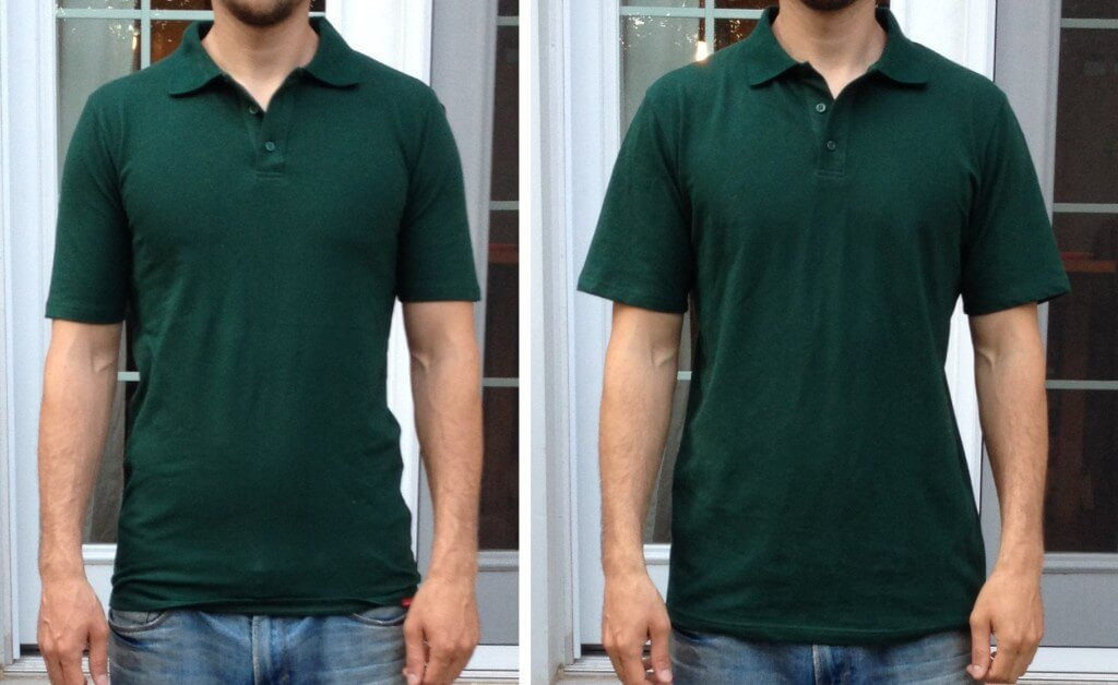 Shirts for Tall Slim Men Large VS Extra Large