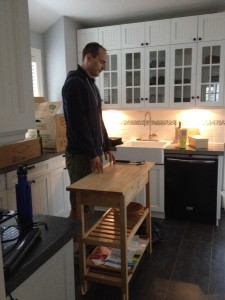 Kitchen Island not high enough for tall people