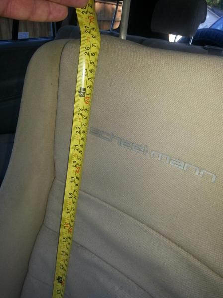 Measuring Seat Back Height for Tall People