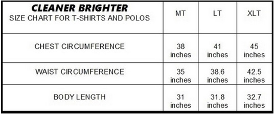 Shirt Sizing Chart for Tall Slim Men