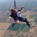 Skydiving while tall with a short guide