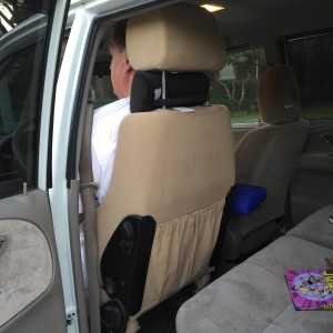 Extra tall car seat for tall driver