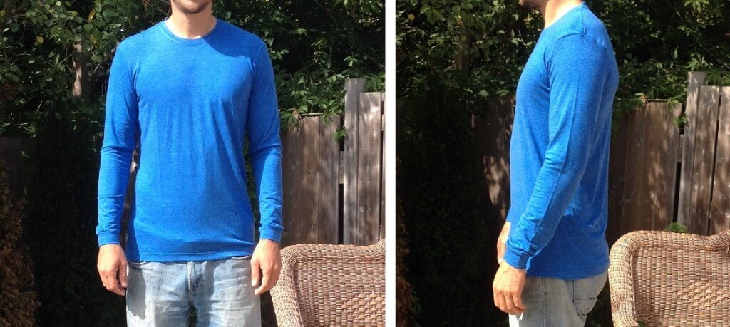 Royal Blue Tall  Long Sleeve Shirt for Skinny Men