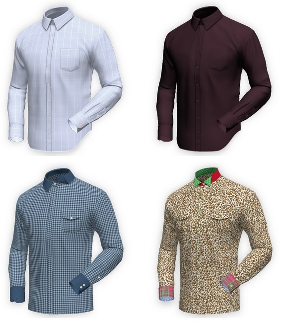 4 custom shirts for tall men