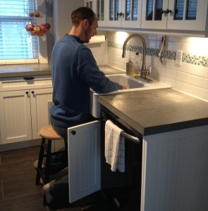 Raised Kitchen Sink Alternative for Tall People: The Stool