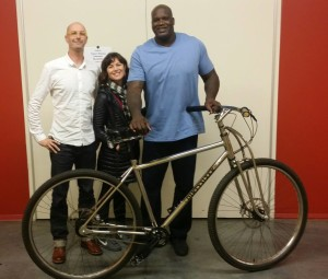 Shaquille O'Neal Gets a Dirty Dirty 36er bike for tall people