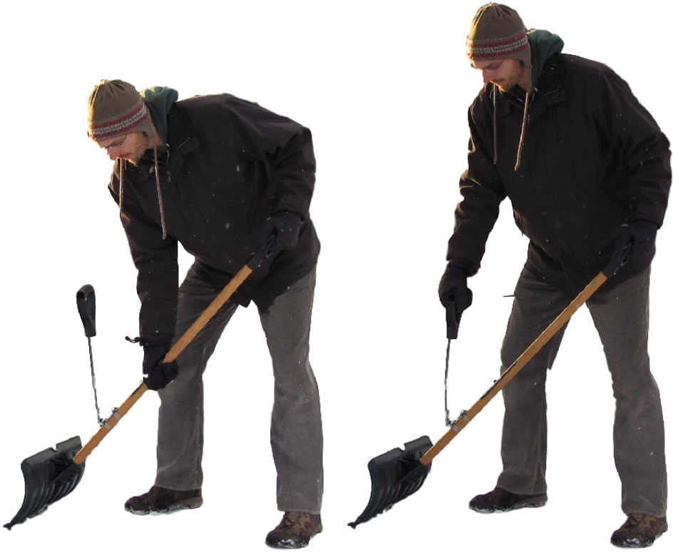 Snow Shovel Handle Extension for Tall People