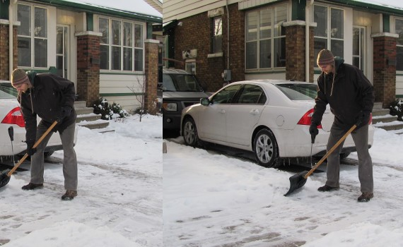 Snow Shovel Handle Extension