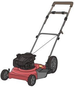 Lawn mower handle extension for tall people
