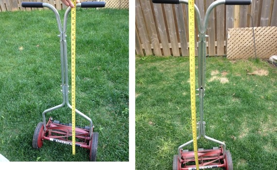 Lawn mower handle extension for tall people comparison