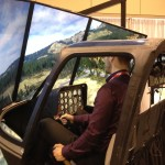 Tall Guy in Bell 206 Helecopter