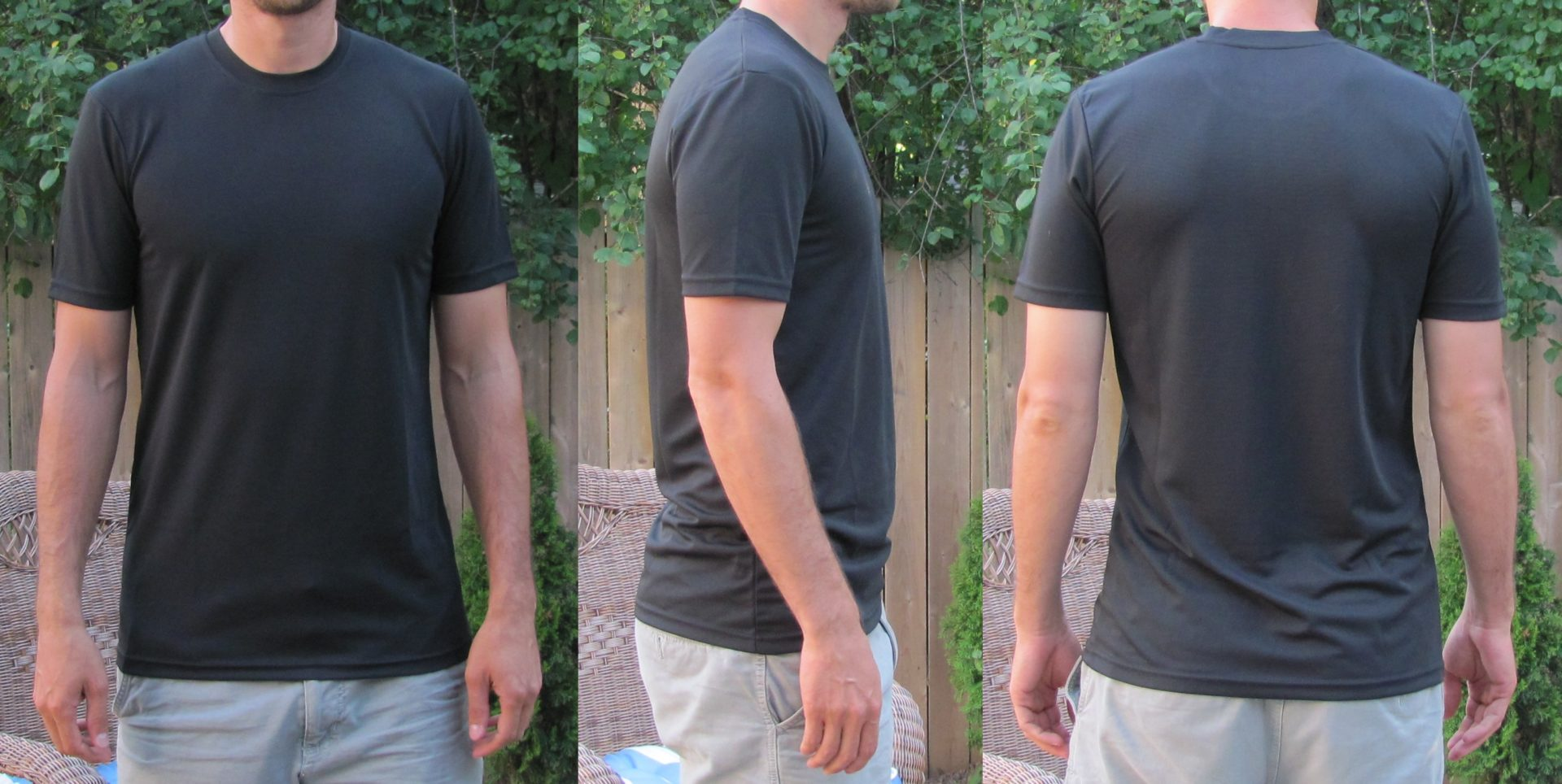 Extra Long Workout Shirts for Tall Guys Black