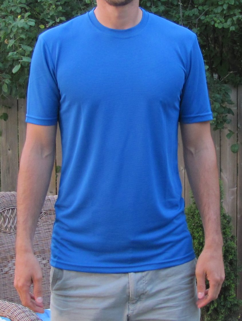 Extra Long Workout Shirts for Tall Guys Blue