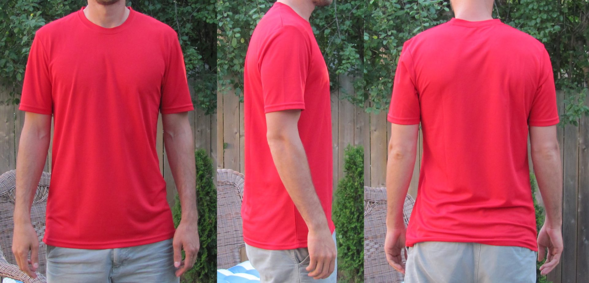 Extra Long Workout Shirts for Tall Guys Red