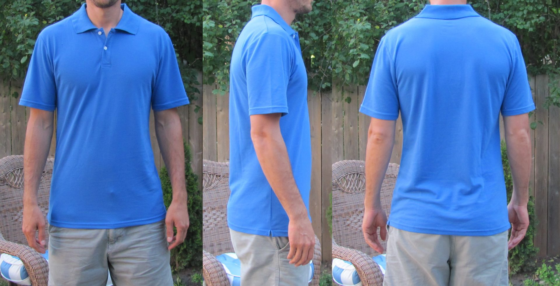 Long Polos for Tall Skinny Guys Light Blue TST