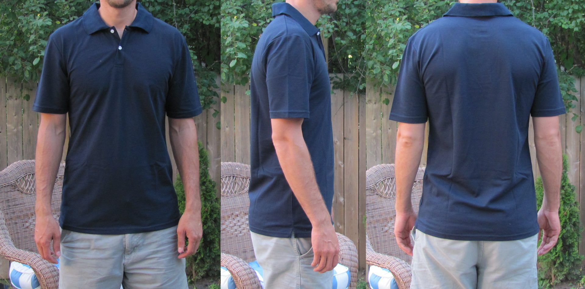 Long Polos for Tall Skinny Guys Navy Blue TST