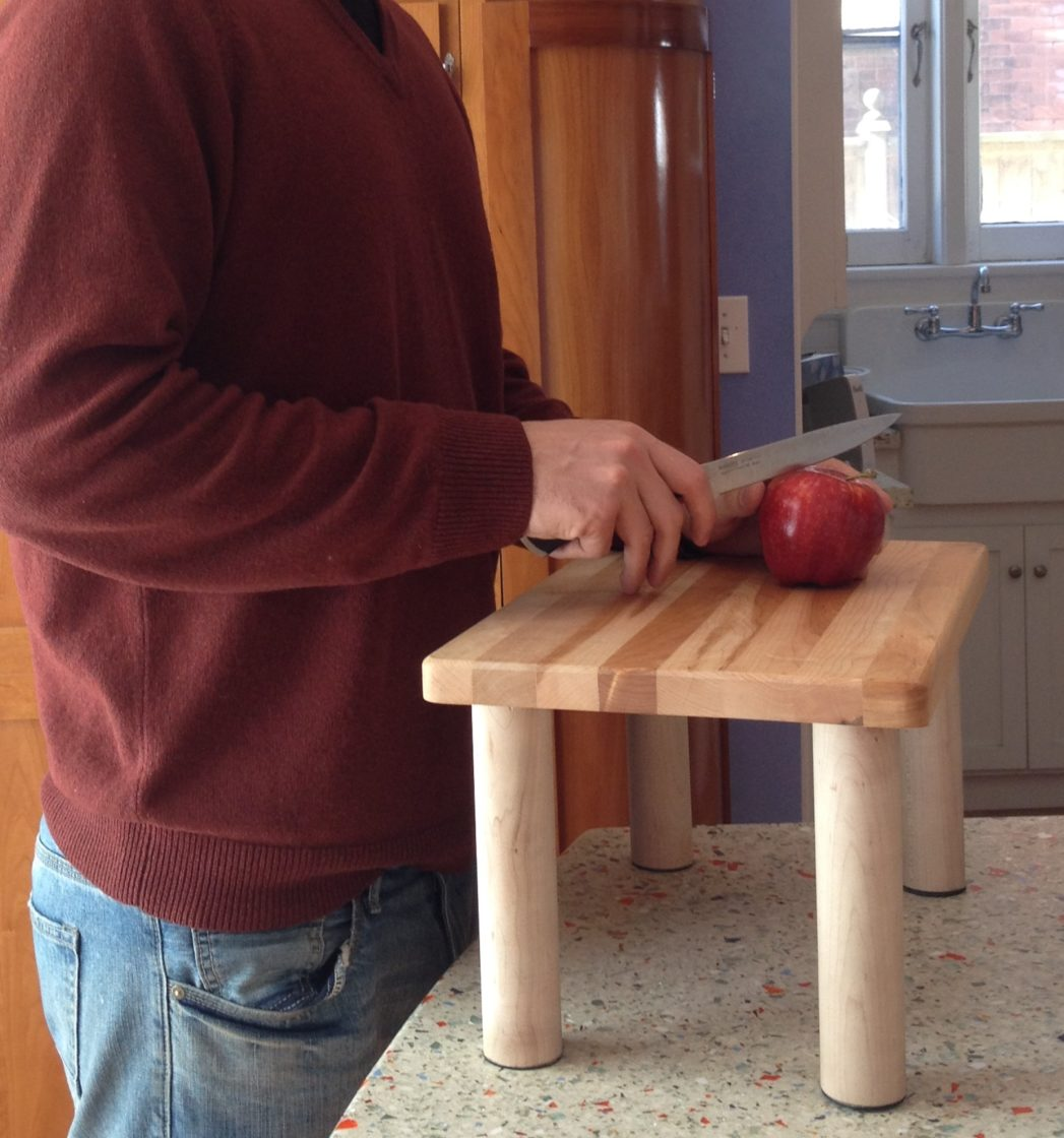 Raised Cutting Board With Legs