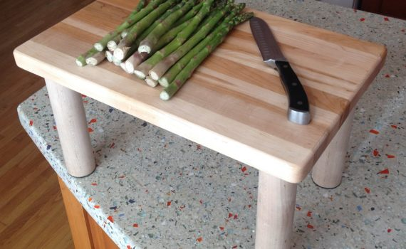 Raised Cutting Board for Tall People