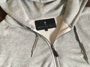 Close Up of American Tall's New Tall Men's Hoodie