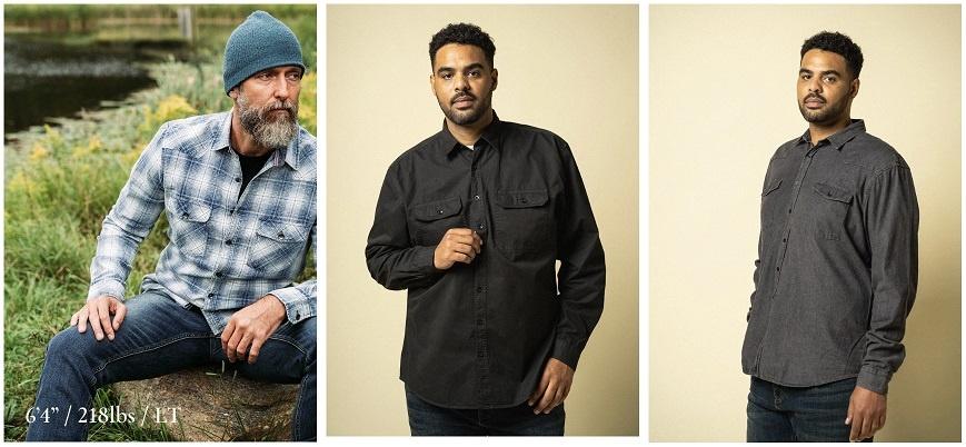 Plaid, Twill, and Denim Shirts for Tall Men