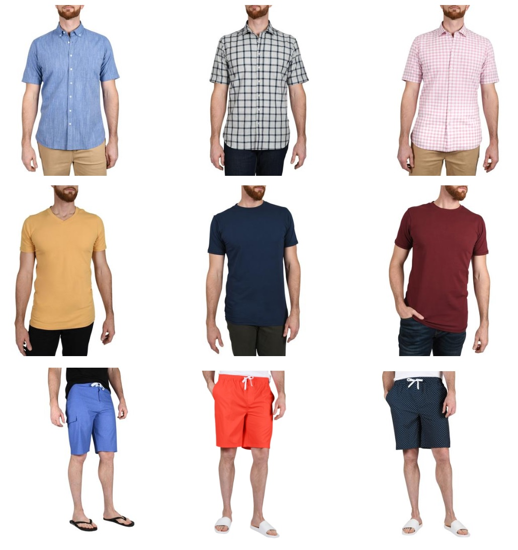 Summer Clothes Including Shorts for Tall Slim Men