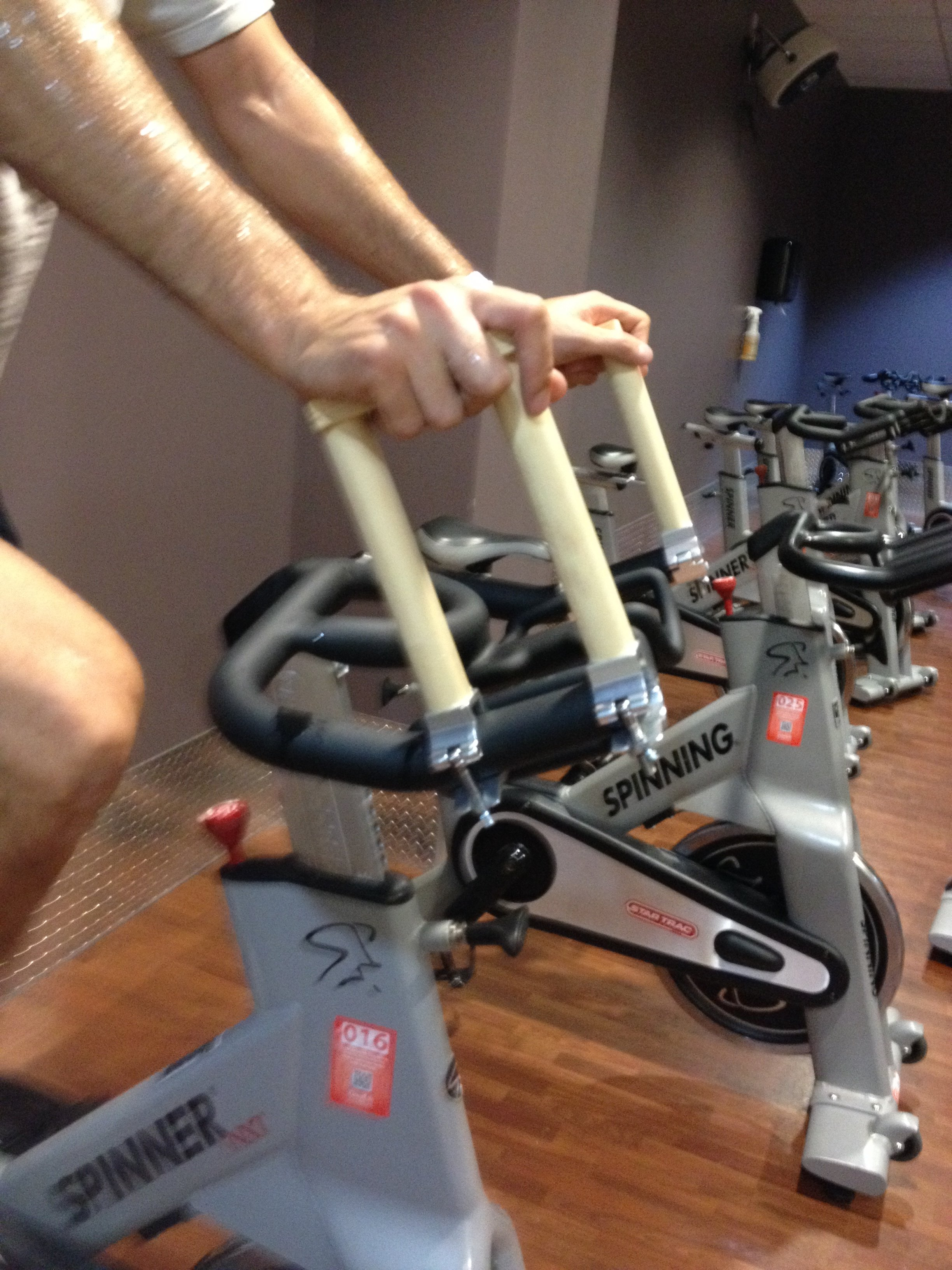 Universal Handle Extension For Tall People on Spin Bike
